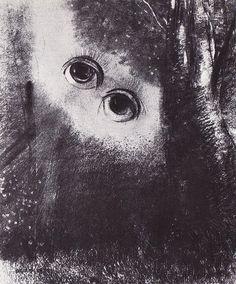 Yeux dans la forêt - Odilon Redon