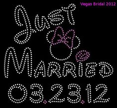 Disney Just Married with Date Rhinestone Transfer by VegasBridal, $12.50