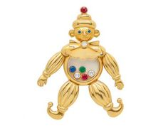 A Multi-Gem 'Happy Diamonds' Clown Pendant, Chopard « Dupuis Fine Jewellery Auctioneers