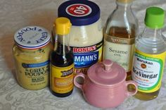 Applebee's oriental salad dressing-or  Dressing  3 tablespoons Honey  1 1/2 tablespoons Rice Wine Vinegar  1/4 cup Mayonnaise (Duke's -- It's all we use)  1 teaspoon Grey Poupon Dijon Mustard  1/8 teaspoon Sesame Oil #foods #recipes