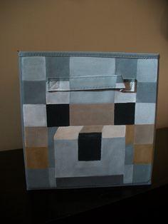 Minecraft Wolf fabric storage bin for kids room