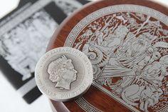 "Australian 2014 2oz Silver ""Gods of Olympus"" Hades Coin"