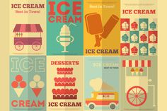 I just released Ice Cream Posters on Creative Market.