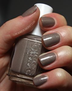 """Shimmery-taupe, by Essie in the shade """"Mocha-chino"""""""