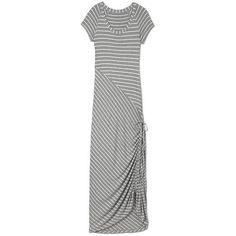 Athleta | Dusky Shark Bite Dress - maxi dress with draw string at the bottom