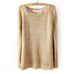 WOMEN´S STYLISH SPRING SEQUINS PULLOVER SWEATER CHIFFON LINING KNIT JUMPER TOPS   eBay