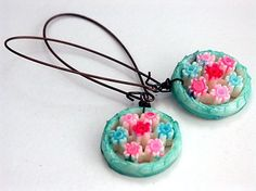 EMO GIRL Blossom Earrings Vintage Celluloid by KatherineCooper