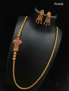 To buy please WhatsApp on 9703870603 Gold Mangalsutra Designs, Gold Earrings Designs, Necklace Designs, Gold Jewelry Simple, Trendy Jewelry, Fashion Jewelry, Gold Chain Design, Gold Jewellery Design, Jhumkas Earrings