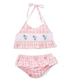 Pink Gingham Ice Cream Bikini & Sunhat - Infant & Toddler