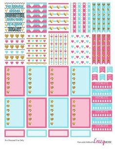 Full of Hearts Free Happy Planner Printable