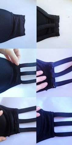 how to make your own bra for low-back summer shirts