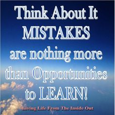 Mistakes, Opportunities to Learn