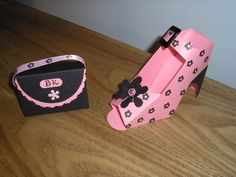 Nugget box purse and matching shoe. Monogrammed Bag and Matching Shoe by Stampnf1n - Cards and Paper Crafts at Splitcoaststampers