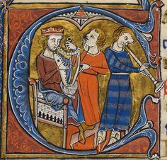 Psalter, Use of Sarum ('The Rutland Psalter') Date c 1260 Add MS 62925 Folio 98r