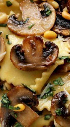 Ravioli with Sautéed Mushrooms More