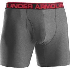 "Under Armour Men's Original 6"" Boxerjock Boxer Briefs, Gray"