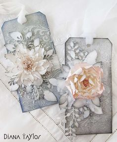 Flower tags by Velvet Moth Studio (using Tattered Florals die).