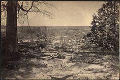 Peachtree Creek battle in Atlanta 1864.