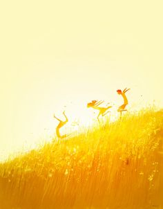 'Free Falling' by Pascal Campion  . Love the simple palette and fun style which accentuates the joy it's trying to depict.