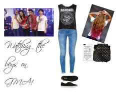 """""""Watching the boys on GMA!"""" by directioner-dxi ❤ liked on Polyvore featuring art, OneDirection, harrystyles, LiamPayne, NiallHoran and louistomlinson"""