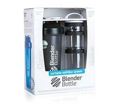 BlenderBottle Combo-Pack: (1) 28 Oz Classic Bottle  (1) GoStak Starter 3PAK (Black)