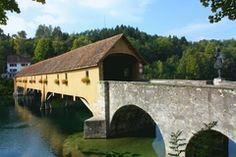Rheinau, to Germany Covered Bridges, Garden Bridge, Germany, Around The Worlds, Outdoor Structures, Travel, Viajes, Covered Decks, Deutsch