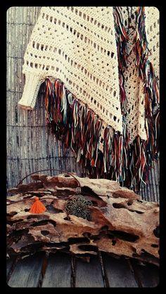 Feito à mão em fio de lã de merino  Franjas mescladas  10110