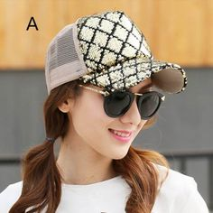 Shiny sequins trucker cap for girls cheap summer baseball caps