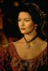 Catherine zeta jones. Zorro makeup