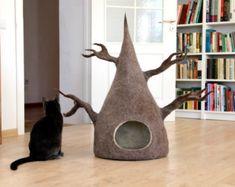 Pet bed Cat bed cat cave cat house eco-friendly by AgnesFelt