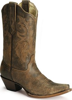 WANT. Corral distressed leather western boots. Sheplers, $159.99