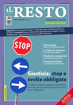 La copertina del n. 17 del settimanale iL Resto - è possibile scaricare la copia in formato elettronico all'indirizzo www.ilresto.tv/archivio