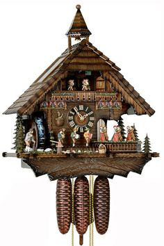 Coo Coo Clock, Happy Wanderers, Trumpet Players, Linden Wood, Cool Clocks, Elements Of Nature, Moving Water, Garage Art, Thing 1
