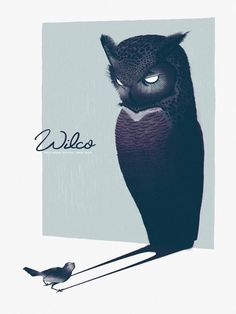 "Wilco, Solid Sound concert poster ""cast a shadow"""