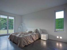 villa mm a biella - Federico Delrosso Architects Bed Back, Minimalist Home, Entrance, Villa, Layout, Flooring, Interior Design, Architecture, House