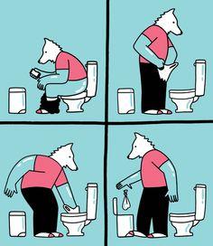 My Life As a Dog - short comic by Sam Island, via Behance