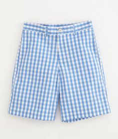 Boys Shorts: Bush Bay Gingham Club Shorts for Boys – Vineyard Vines