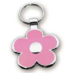 Pet ID Tag - Pink Flower Jewelry Tag- Custom engraved cat and dog ID tag - Measures 1 & - A perfect fit for most pets! Jewelry that ensures pet safety. Dog Name Tags, Dog Tags Pet, Cat Tags, Engraved Pet Tags, Custom Dog Tags, Jewelry Tags, Pet Id, Cat Collars, Cat Gifts