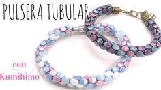 Beading Ideas - Pinch Beads Tubular bracelet using Kumihimo