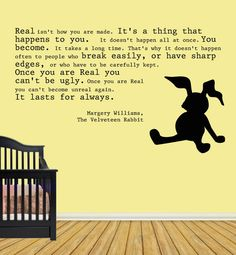 Velveteen Rabbit Nursery 10x10 Wall Decal by WebMistressDesigns