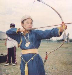 Young Mongolian archer. Woman Archer, Bow Quiver, Bronze, Bows, Women, Arches, Bowties, Bow, Woman
