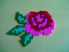Rose perler beads by Angie W. - Perler® | Gallery