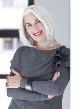 . grey hair, gray hair, middl length, silver hair, going gray, beauti gray