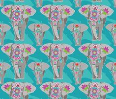 Elephant Festival fabric by shellypenko on Spoonflower - custom fabric