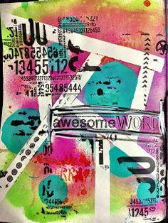 Lindy's Stamp Gang Art Journaling