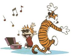 Calvin And Hobbes, and their record player