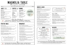 Chip And Joanna Gaines Restaurant Is Officially Open For Business - Magnolia table restaurant menu