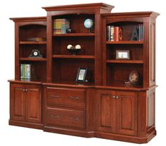 Select Options For Amish Buckingham Office Lateral File Cabinet, Credenza and Optional Bookcase Top (ID: Amish Furniture, Solid Wood Furniture, Furniture Sale, Discount Furniture, Furniture Making, Office Furniture, Furniture Storage, Furniture Projects, Muebles Living