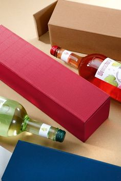 Pudełka do wina na www.pakoteka.pl Wine Rack, Packaging, Gift Wrapping, Gifts, Decor, Cardboard Paper, Products, Wave, Gift Wrapping Paper