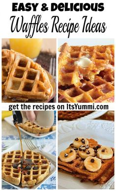 Get lots of quick and easy waffles recipe ideas from ItsYummi.com. Waffles for every occasion, both sweet and savory!